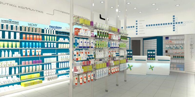 ανακαίνιση φαρμακείου Ερμιόνη
