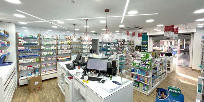 ανακαίνιση κατασκευή φαρμακείου κερατσίνι